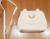 Free Shipping Sailor Moon Luna White Cat Inspired Handbag Cute Anime