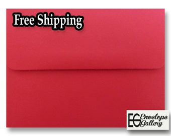 """Christmas Red A7 Envelopes for 5"""" x 7"""" Invitations Cards Announcements Weddings Photos Shower Communion Astrobrights Re-Entry Red"""