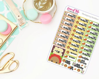 Thanksgiving Countdown   Life Planner Stickers
