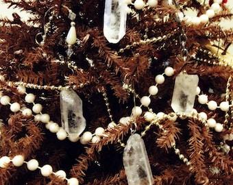 Natural Polished Quartz Crystal Point Ornaments magical