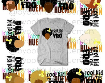Cool Kid With The Fro Tee