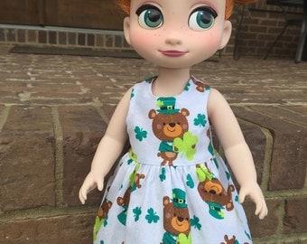 Disney Animator Doll St. Patrick's Day Teddy Bear Leprechaun Dress