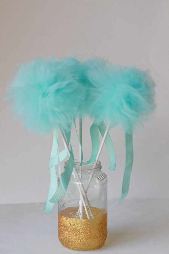 wands teal baby shower decorations princess party decoration teal