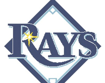 Tampa Bay Rays -- Counted Cross Stitch Chart Patterns, 3 sizes!