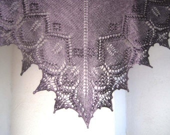 Rosella Lace Shawl Knitting Pattern - Instant download PDF - top-down triangular