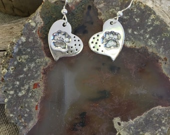 Paws Silver Earrings