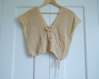 handmade vintage crop top