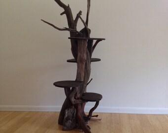 Driftwood Cat Climbing Tree. Handmade from Reclaimed Driftwood