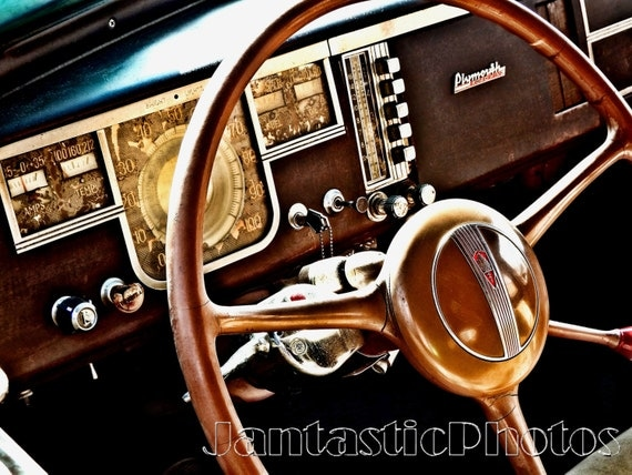 plymouth roadking photograph 1940 dashboard classic car. Black Bedroom Furniture Sets. Home Design Ideas