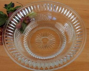 Pressed Glass Fruit Bowl