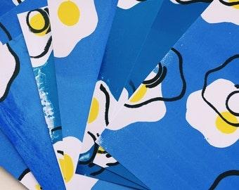 Unperfect Screenprint Egg Print - A5