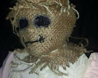 Scarecrow doll horror art ooak
