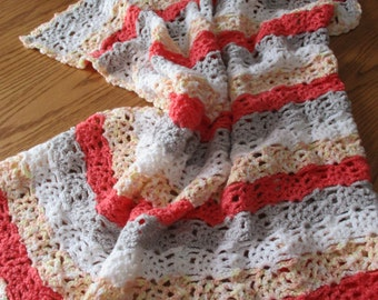 Crochet Baby Blanket, Toddler Throw, Spring and Summer Throw, Stroller Blanket, baby crochet afghan