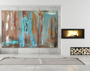 Healing Blue - Large Abstract Painting - 24 x 36