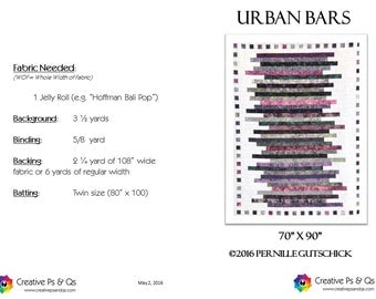 Urban Bars - Quilting Pattern