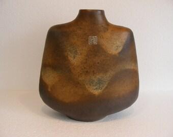 Large Brown Carstens Tonnieshof Atelier Vase