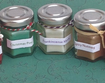 Lovely little Christmas candles with great scent options...our best value candles