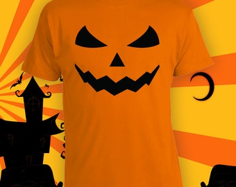Evil Jack-o-lantern Costume, Pumpkin Costume, Funny Halloween Party Shirt, Last Minute Halloween Costume, Funny Adult Halloween Shirt CT-771