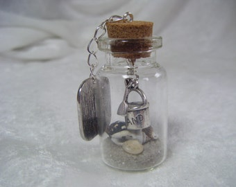 Miniature beach themed gift or wedding favour