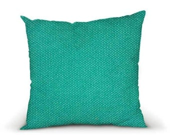 Pillow cover, decorative cushions in Litchi Turquoise fabrics, several sizes