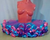 Custom ribbon trim tutu! Festival fashion! Festival tutu! Party outfit! Birthday outfit!