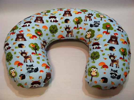 Animal Nursing Pillow : Forest Animals Nursing Pillow Cover Boppy Cover Baby Pillow