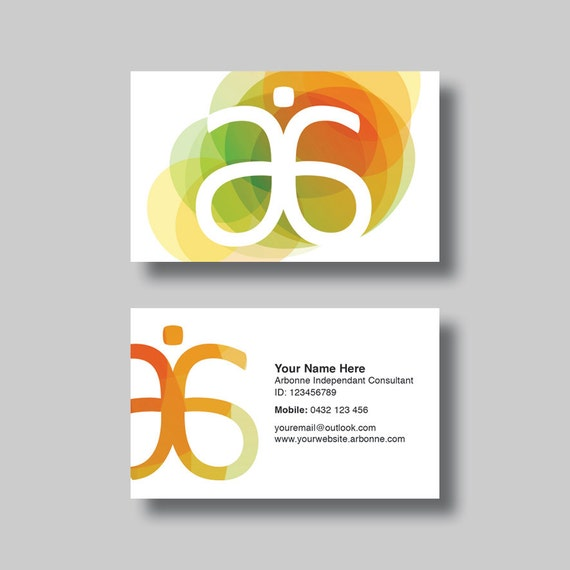 Arbonne Business Card Circles Digital by BellGraphicDesigns