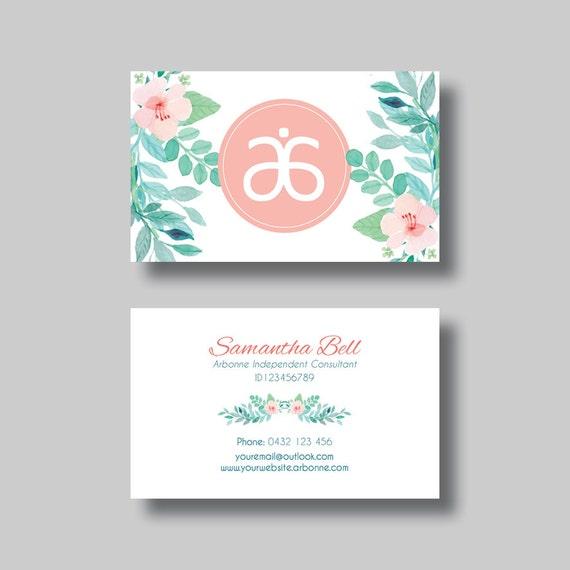 Arbonne Business Card Floral 2 0 Digital Design