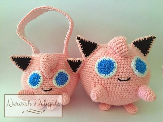 Crochet pattern for Jigglypuff handbag or plush toy