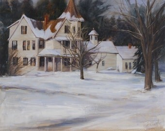 Reproduction of Newfane Victorian Oil Painting