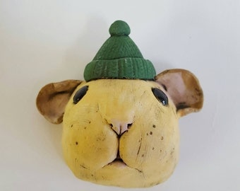 Compo Hamster Trophy Head- ceramic hamster wall mounted head