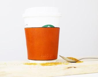 Leather coffee cup sleeve, coffee cup sleeve, leather cup cozy, leather cup sleeve, leather drink holder