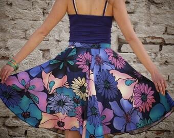 Cool Floral Skirt Midi Length Medium