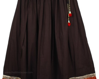 Date Night Red Black Lounge Skirt