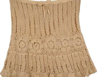 Camelot Crochet Mini Skirt