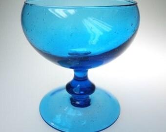 Bonboniere bowl glass bowl 70's blue