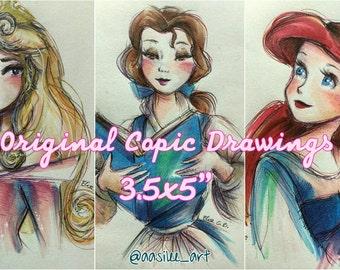 """3.5x5"""" Original Copic Drawings"""