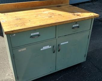 Mid Century Metal Cabinet