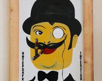"""JUST SAY VINTAGE Collection - Hand painted signs - """"Интерцирк(Intercirk)"""""""