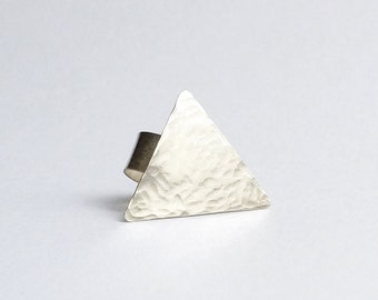 Sterling Silver Hammered Triangle Ear Cuff