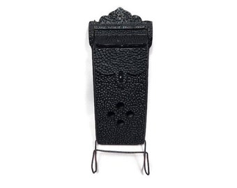 antique black cast aluminum wall mount mailbox letter box with newspaper rack hammered finish