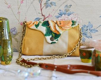 Petit Shoulder Bag Yellow Roses // Handmade
