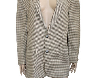 Thierry Mugler Vintage Brown Houndstooth Wool Jacket