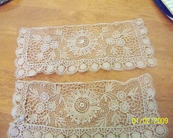 Ttwo pieces of elegant lace