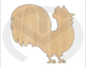 Unfinished Wood Rooster Door Hanger Laser Cutout , Home Decor, Ready to Paint & Personalize, Various Sizes