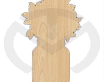 Unfinished Wood Mason Jar Bouquet Door Hanger Laser Cutout , Home Decor, Ready to Paint & Personalize, Various Sizes