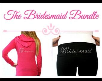 Bridesmaid Hoodie and Yoga Pants. Bridesmaid Hoodie. Bridesmaid Yoga Pants. Bridesmiad Gift. Wedding. Bridesmaid Yoga Set. Bridesmaid Jacket