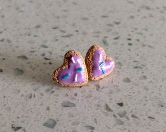 Purple Sugar Cookie Earrings
