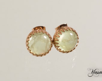 Maharani with Prehnite rose gold plated