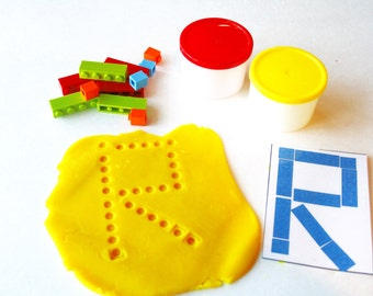 Lego Pattern Game, Playdoh Lego Game, Unique Playdoh Games, Fun with Lego